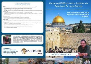 Clique aqui para ver o folder da caravana - Universal Travel