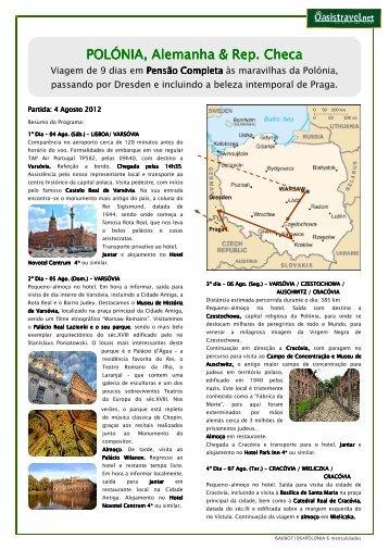 POLÓNIA, Alemanha & A, Alemanha & A, Alemanha ... - Oasis Travel