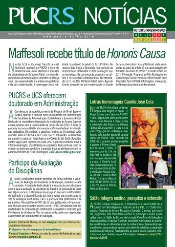 edição nº 315 do Boletim PUCRS Notícias