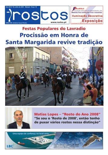 Procissão em Honra de Santa Margarida revive tradição - Rostos