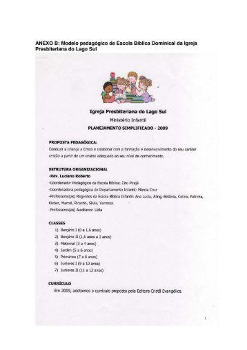 ANEXO B: Modelo pedagógico de Escola Bíblica Dominical da ...