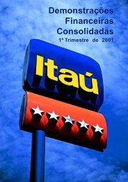 Relatório de Análise Gerencial da Operação e ... - Banco Itaú