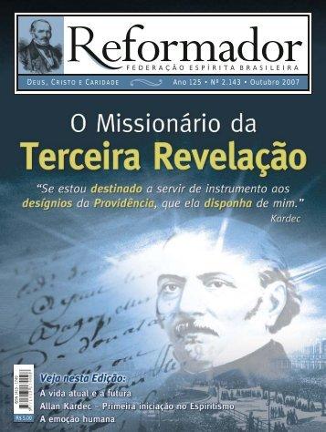 reformador outubro 2007 - a.qxp - Federação Espírita Brasileira