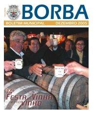boletim municipal dezembro 2005 - Câmara Municipal de Borba