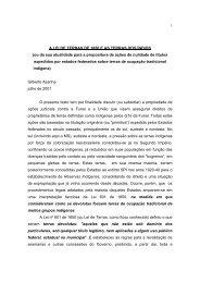 A LEI DE TERRAS DE 1850 E AS TERRAS DOS ÍNDIOS (ou ... - OTCA