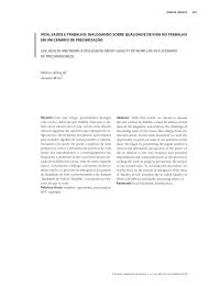 Texto Completo - Revista Trabalho, Educação e Saúde - Fiocruz