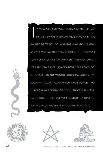 Curas mágicas e sexualidade no século XVIII luso-brasileiro ... - USP