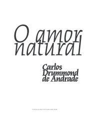 O amor natural Carlos Drummond de Andrade