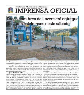 Edição n. 112 - 12 de Maio de 2.012 - Prefeitura Municipal de Caieiras