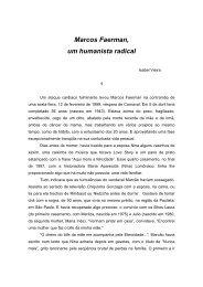 Marcos Faerman, um humanista radical - Isabel Vieira