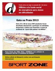 Gata na Praia 2013 - UMdicas - Universidade do Minho