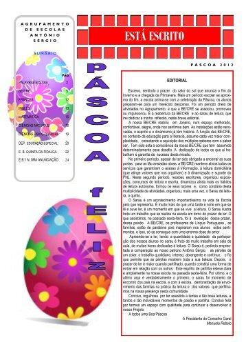 JornaL Páscoa 2012.pdf - Agrupamento de Escolas António Sérgio