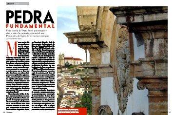 Reportagem da revista Brasileiros sobre a Cantaria.