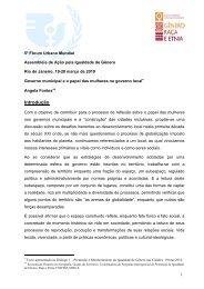 5º Fórum Urbano Mundial - Gênero, Raça e Etnia