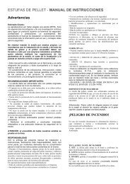 estufas de pellet - manual de instrucciones - biomasa diterco