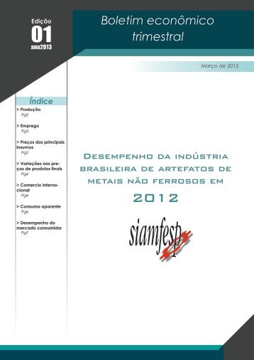 Boletim econômico trimestral - Siamfesp