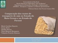 Comparação dos custos de transporte de soja no Estado do Mato ...