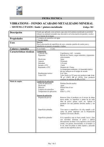 VIBRATIONS – FONDO ACABADO METALIZADO MINERAL - Bruguer