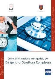 Corso di formazione manageriale per Dirigenti ... - Ospedale Galliera