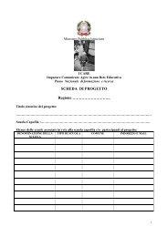 La Scheda di Progetto - Archivio Pubblica Istruzione