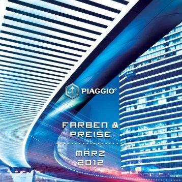 Piaggio Prospekt mit Preisliste 2012 (PDF) - Zweirad Deusch