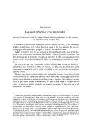La piccola comunità e le sue consuetudini - Storia di Venezia
