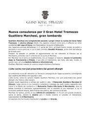 Nuova consulenza per il Gran Hotel Tremezzo - BTC