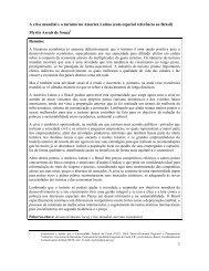 A crise mundial e o turismo na America Latina (com especial ...