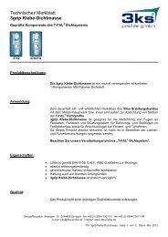 Technisches Merkblatt 3grip Klebe-Dichtmasse - 3ks profile gmbh