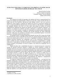 estrutura industrial e padrão de concorrência no mercado - SOBER