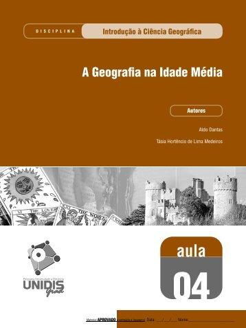 A Geografia na Idade Média - SEAD/UEPB - Secretaria de ...