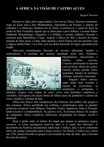 A ÁFRICA NA VISÃO DE CASTRO ALVES - pen clube do brasil