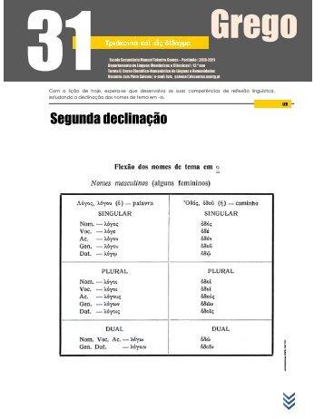 Segunda declinação - wiki | GREGO