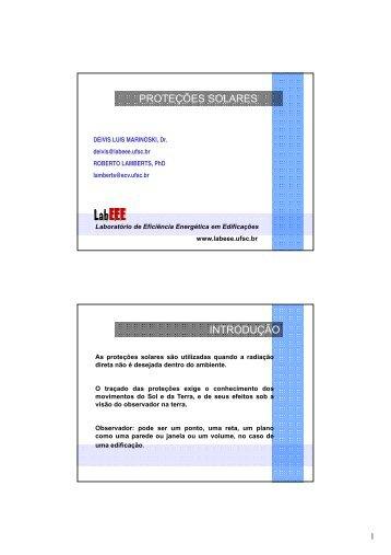 Proteções solares - Laboratório de Eficiência Energética em ...