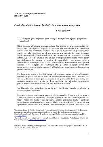 Currículo e Conhecimento: Paulo Freire e uma escola sem ... - UFF