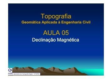 A5 - Laboratório de Topografia e Cartografia