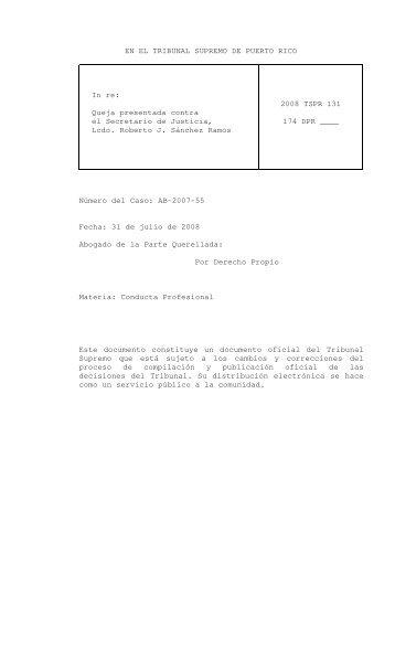 2008 TSPR 131 - Rama Judicial de Puerto Rico