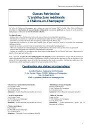 Projet de classes Patrimoine - Ministère de la Culture et de la ...