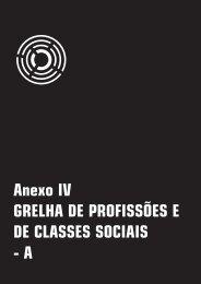 Anexo IV GRELHA DE PROFISSÕES E DE CLASSES SOCIAIS - A