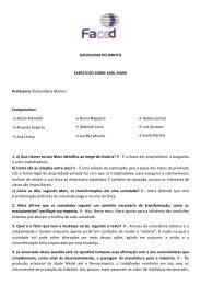 SOCIOLOGIA DO DIREITO EXERCÍCIOS SOBRE KARL ... - Faced