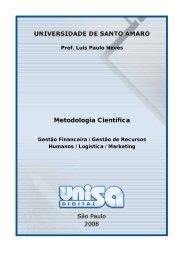 Metodologia Científica - TelEduc - Unisa