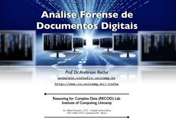 A. Rocha, 2012 – Análise Forense de Documentos Digitais