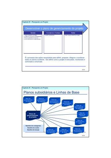 Planos subsidiários e Linhas de Base - Alan Lopes - Gerenciamento ...