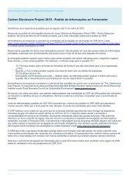 Carbon Disclosure Project 2010 Supplier Information Request