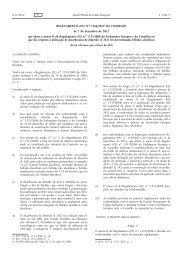 Regulamento (UE) n.o 1166/2012 da Comissão, de 7 de ... - EUR-Lex