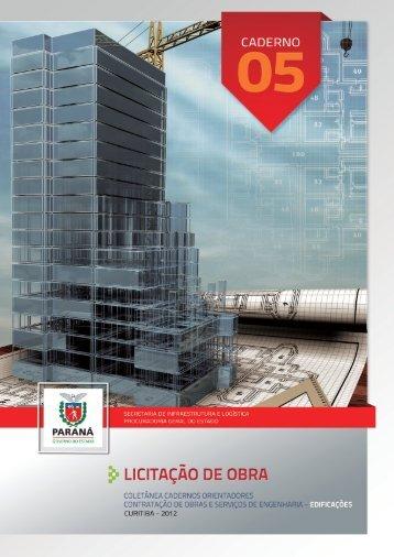 Caderno 05 – LICITAÇÃO DE OBRA - Procuradoria Geral do Estado ...