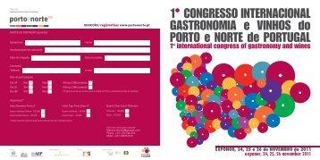 Programa Congresso Internacional Gastronomia e Vinhos do Porto ...