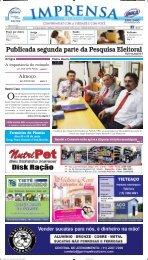 Publicada segunda parte da Pesquisa Eleitoral - Jornal Imprensa