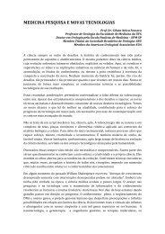 Artigo - Medicina, Pesquisa e Novas Tecnologias -Prof. Dr ... - UFG