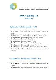 Mapa de Eventos - 14/10/2011 - Confraria Gastronómica do Velhote